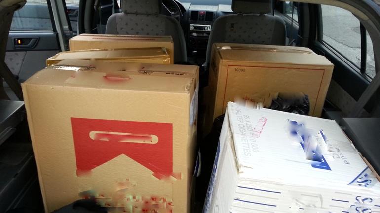 Στα δίχτυα της ΕΛ.ΑΣ. λαθρέμποροι τσιγάρων στο Κερατσίνι - Κατασχέθηκαν 20.570 πακέτα