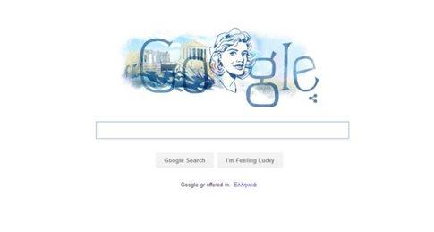 Αφιερωμένο στη Μελίνα Μερκούρη το doodle της Google