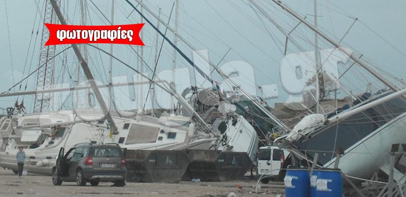 Απίστευτες καταστροφές στο Λαύριο