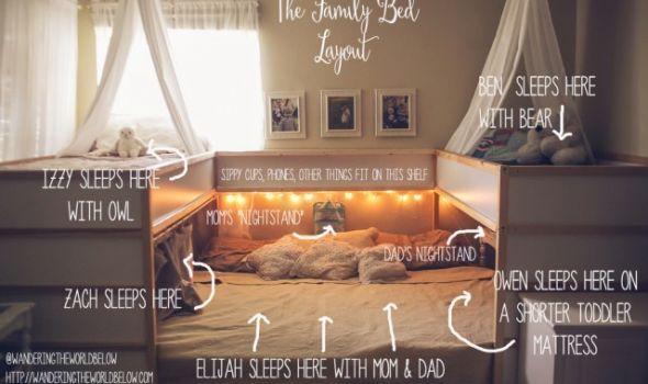 Μητέρα έφτιαξε κρεβάτι-πατέντα που χωράει την 7μελή οικογένειά της [εικόνα]