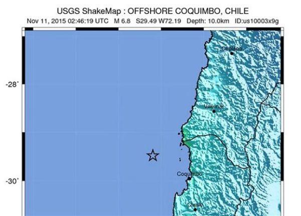 Σεισμός 6,6 Ρίχτερ δυτικά της Χιλής