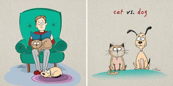 Γάτες και σκύλοι συμπεριφέρονται διαφορετικά