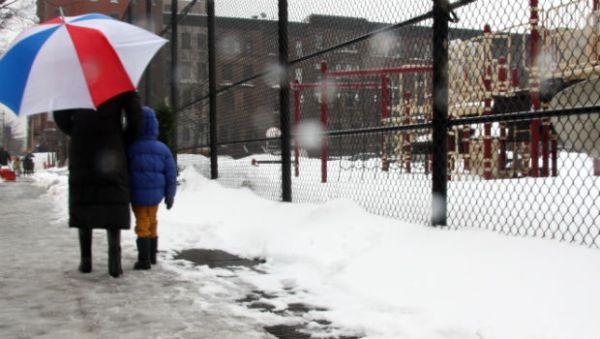 Ο παγετός έκλεισε τα σχολεία