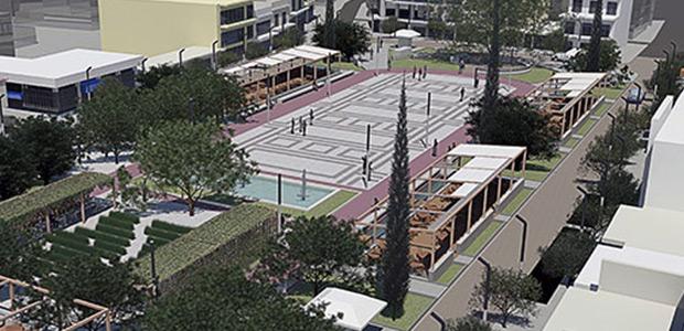 Βιοκλιματική αναβάθμιση πλατείας Αλμυρού - Εκτελέστηκε το 50% του έργου