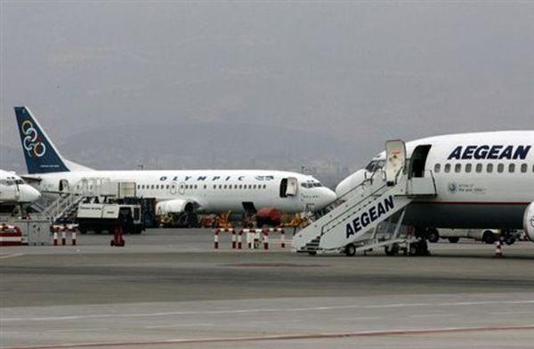 Ακυρώσεις πτήσεων από την Olympic Air και την Aegean