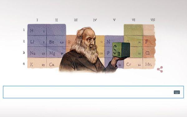 Ο Ρώσος χημικός «πατέρας» του Περιοδικού Πίνακα στο doodle της Google