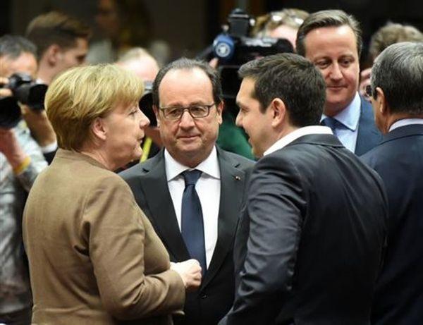 Τριμερής συνάντηση Τσίπρα-Μέρκελ-Ολάντ στις Βρυξέλλες