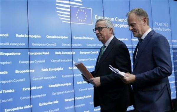 Ικανοποίηση Τουσκ και Γιούνκερ για τη συμφωνία με τη Βρετανία