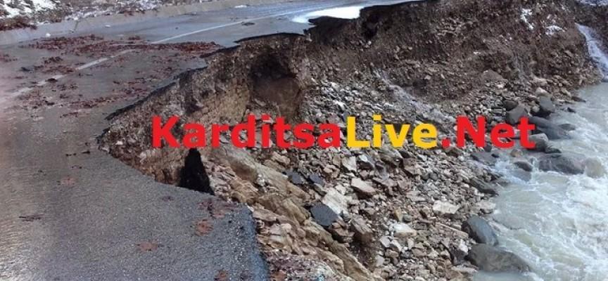 Μεγάλες ζημιές από κατολισθήσεις στο νομό Καρδίτσας