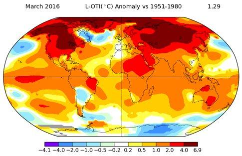 Θεαματική κατάρριψη του ρεκόρ θερμοκρασίας τον Μάρτιο