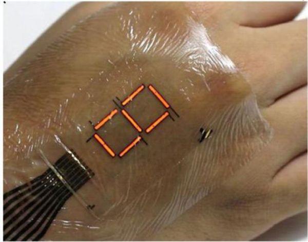Ηλεκτρονικό δέρμα-οθόνη μετρά και δείχνει το επίπεδο του οξυγόνου στο σώμα