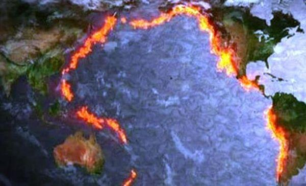 """Το """"δαχτυλίδι της φωτιάς"""" στον Ειρηνικό με τα 452 ηφαίστεια"""