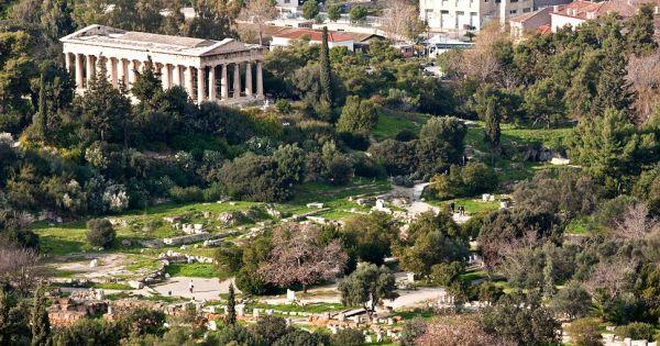 Εντυπωσιακή ξενάγηση στην αρχαία Αγορά της Αθήνας με drone