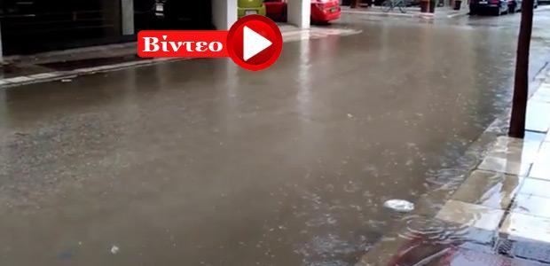 Δρόμοι… ποτάμια στα Τρίκαλα