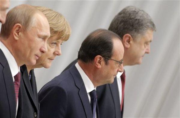 Τηλεφώνημα Πούτιν, Μέρκελ, Ολάντ και Ποροσένκο για την Ουκρανία