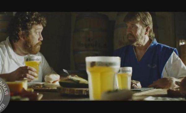 Διαφήμιση ρωσικής μπύρας με τον... Τσακ Νόρις