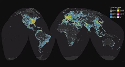 Η φωτορύπανση θαμπώνει πλέον το 80% του πλανήτη
