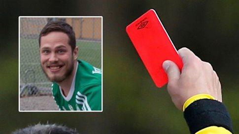 Σουηδός αποβλήθηκε με κόκκινη κάρτα επειδή... αερίστηκε