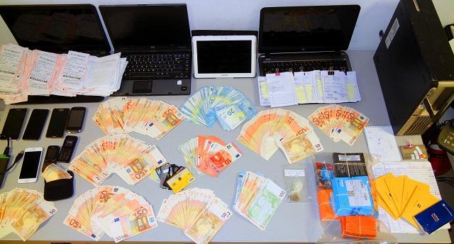Πώς δρούσε το κύκλωμα παράνομου στοιχηματισμού στη Λάρισα [photos]