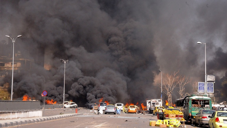 Πολύνεκροι βομβαρδισμοί κοντά στη Δαμασκό