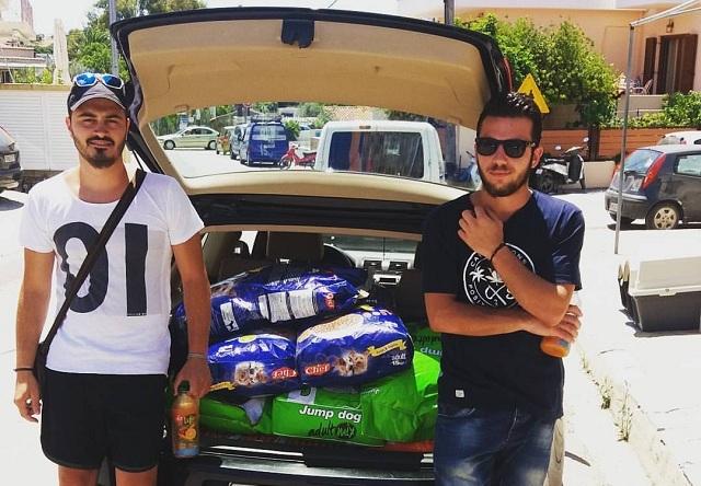 Δώρισαν 180 κιλά τροφής στο καταφύγιο αδεσπότων Σκιάθου