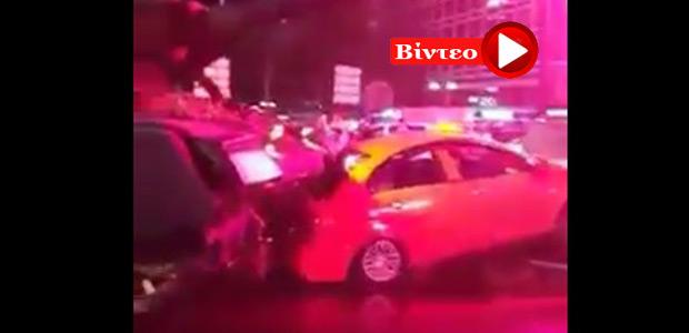 Τουρκία : Τανκ πέφτει πάνω σε αυτοκίνητα