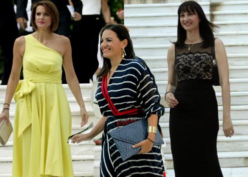 Οι κυρίες που έκλεψαν τις εντυπώσεις στο Προεδρικό Μέγαρο [εικόνες]