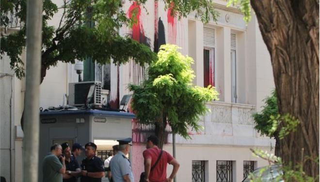 Συνελήφθη μέλος του «Ρουβίκωνα» για την επίθεση στην τουρκική πρεσβεία