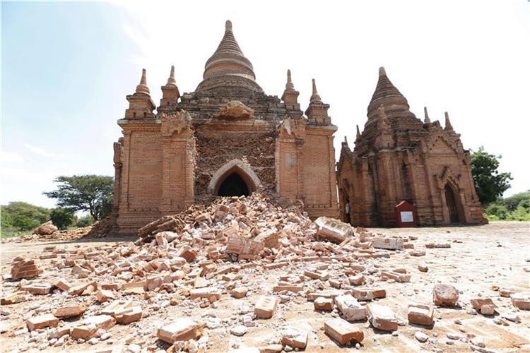 Μεγάλες ζημιές στις ιστορικές παγόδες του Μπαγκάν από σεισμό 6,8 Ρίχτερ