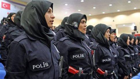 Και με μαντήλα πλέον οι γυναίκες αστυνομικοί στην Τουρκία