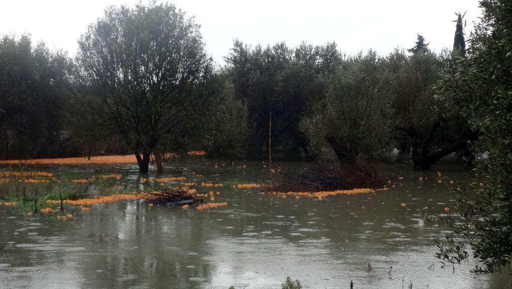 Προβλήματα από την ισχυρή νεροποντή στην Δυτική Θεσσαλία