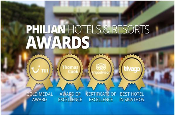 19 τουριστικά βραβεία το 2015 για τον Όμιλο Philian Hotels & Resorts