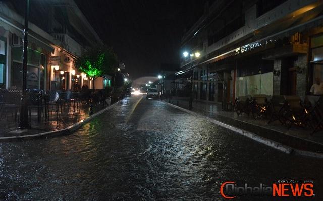 Κατακλυσμός σε χωριά της Φαρκαδόνας