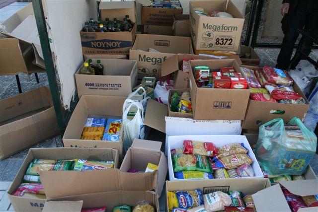 Συλλογή ρούχων, σκεπασμάτων και τροφίμων στη Σκιάθο