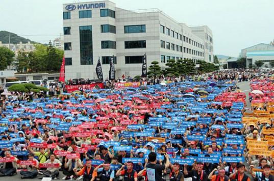 Πάγωσαν τα εργοστάσια της Hyundai λόγω απεργίας