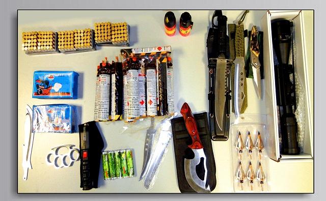 Τρεις συλλήψεις για κατοχή όπλων και ναρκωτικών στη Λάρισα