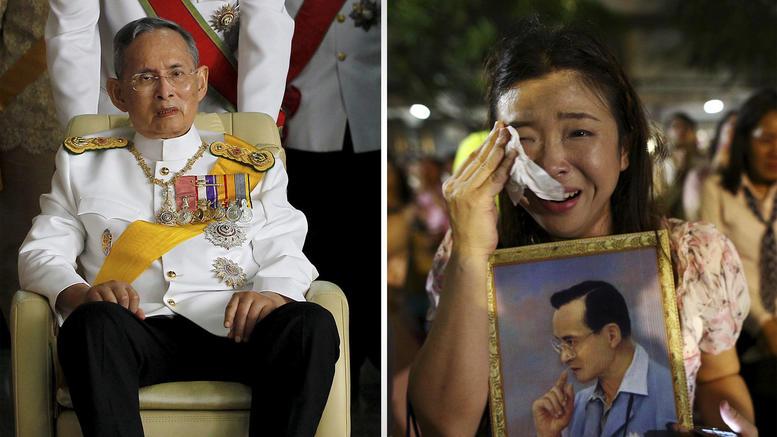 Θρήνος στην Ταϊλάνδη για τον θάνατο του Βασιλιά