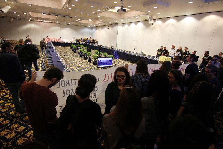 Εισβολή στη σύνοδο των πρυτάνεων των Πανεπιστημίων όλης της χώρας
