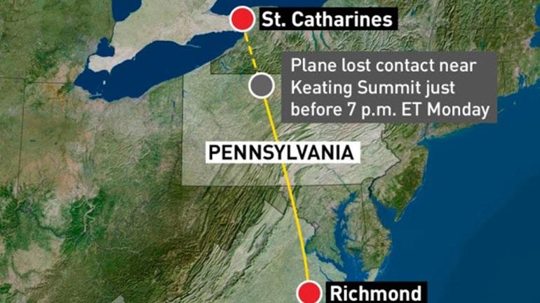 Αεροπλάνο συνετρίβη στην Πενσυλβάνια