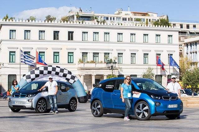 Η BMW i3 στο βάθρο του διαγωνισμού οικονομίας Hi-Tech EKO MobilityRally2016