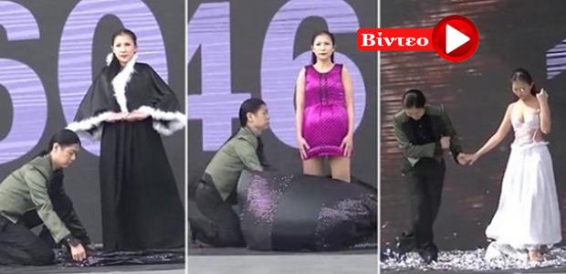 Αλλάζει 19 φορέματα σε 1 λεπτό και σπάει ρεκόρ Γκίνες