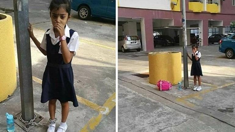Κοριτσάκι βρέθηκε αλυσοδεμένο σε στύλο