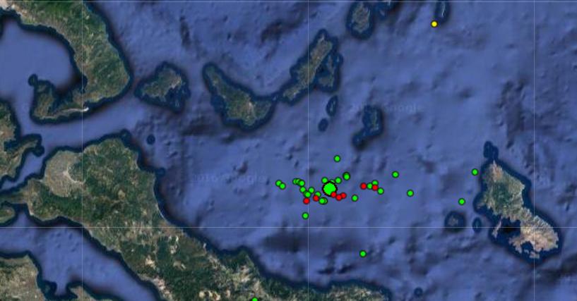 34 σεισμικές δονήσεις,μέσα σε 24 ώρες, στην Αλόννησο!