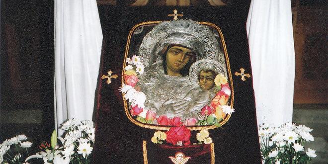 Η εικόνα της Παναγίας Καναλιώτισσας στο ναό Αγ. Γεωργίου Ν. Αγχιάλου