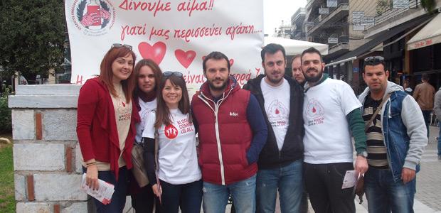 Μπροστάρηδες οι νέοι στην εθελοντική αιμοδοσία