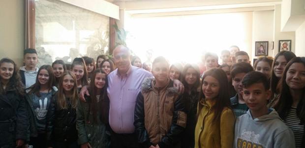 Μαθητές του Γυμνασίου Στεφανοβικείου στο δημαρχείο