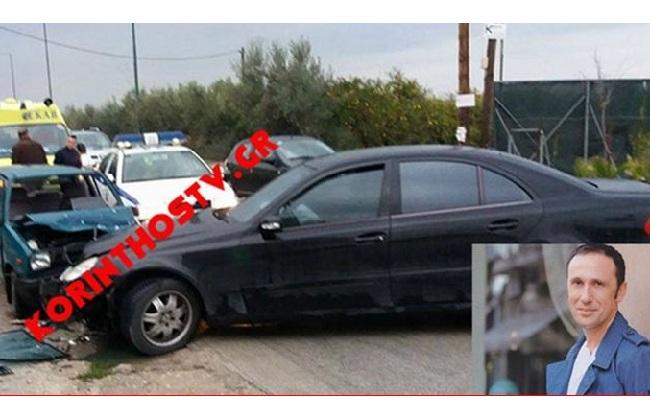 Τροχαίο είχε ο Ρένος Χαραλαμπίδης στην Παλαιά Εθνική Οδό Κορίνθου -Πατρών