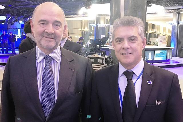 Με τον Επίτροπο Π. Μοσκοβισί συναντήθηκε ο Κ. Αγοραστός στις Βρυξέλλες