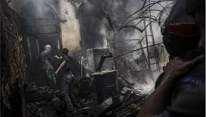 Σφοδροί βομβαρδισμοί στο Χαλέπι