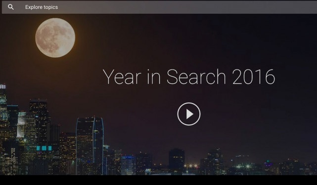 Οι ταχύτερα αυξανόμενες αναζητήσεις στη Google για το 2016